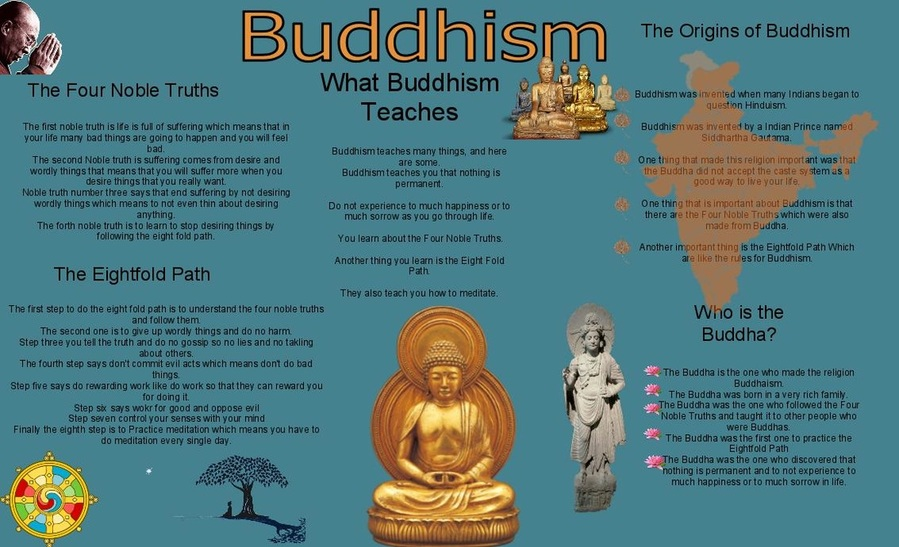 the outline of buddhism one of the four major religions of the modern world Buddhism a brief overview of the life of buddha sponsored link note: little is known about the buddha's early life no biography was written during his lifetime.